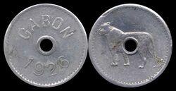 Gabon non-denominated leopard coin