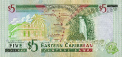 5 EC dollar banknote reverse