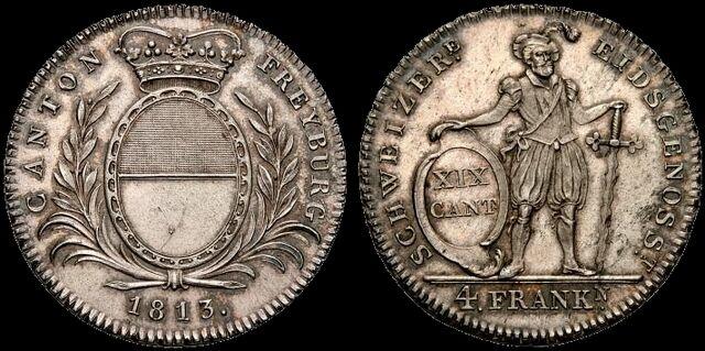 File:Fribourg 1813 4 Franken.jpg