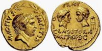 Roman 1 aureus coin (Sextus Pompey)