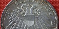 Lübeck 3 mark coin