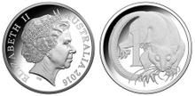 Australia 1 cent 2016 silver