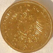 20 M Gold Kaiser Wilhelm I. von Preussen 1873 70