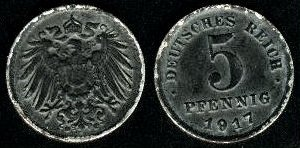 File:Deutsches Reich 5 pfennig 1917.jpg
