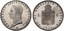 Lombardy-Venetia 6 lire 1816