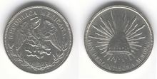 Un Peso Mexico 1908