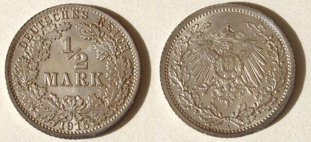 File:½ Mark German Empire 1915.jpg