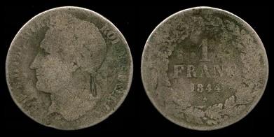 File:Belgium franc coin 1844.jpg