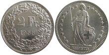2 Francs 1955 AG 835