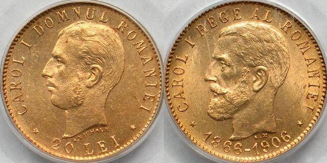 File:Romanian 20 lei coin commemorative 1906.jpg