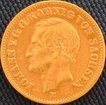 Sachsen Johann 1873 20 Mark
