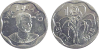 Swazi 10 cent coin