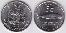 Namibia 5 cents 2000