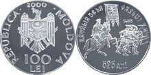 Moldova 100 lei battle 2000