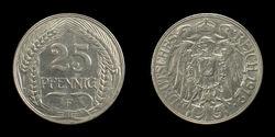 25-Pfennig-Coin-Deutsches-Reich-1912-F-JR-4403-4406