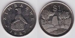 Zimbabwe 1 dollar 1997