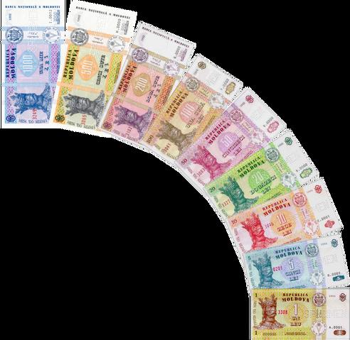 File:Moldovan leu banknotes.png