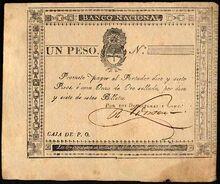 Argentine peso fuerte 1826 obv