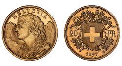 20 CHF Vreneli 1897