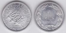 Eq Africa 1 franc 1969