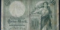 German 10 mark banknote (Gold mark)
