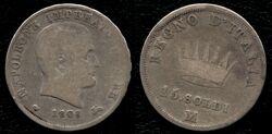 Kingdom of Napoleon 15 soldi