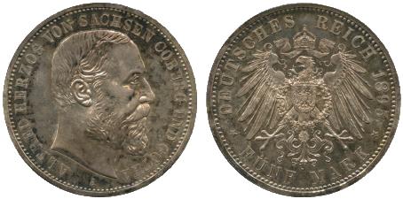 File:Saxe-Coburg-Gotha 5 mark 1895.png