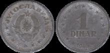 Yugoslavia 1 dinar 1945