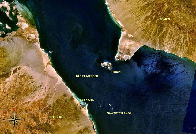 File:Bab el Mandeb NASA with description.jpg