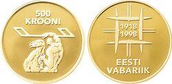 Estonia 500 krooni 1998
