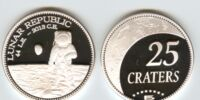 Lunar Republic 25 crater coin