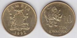 Zambia 10 kwacha 1992