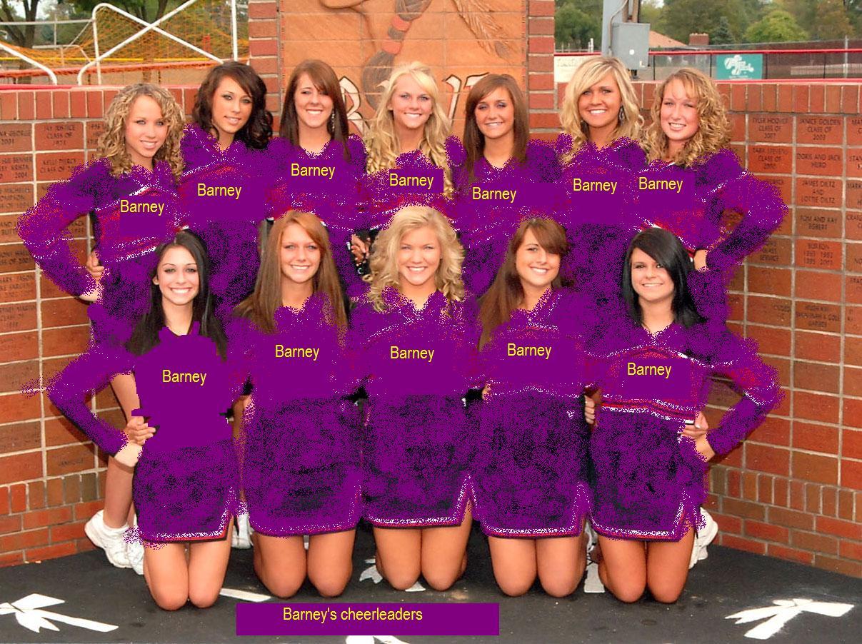 Barney fourth Cheerleaders (2002) | Custom Barney Wiki ...