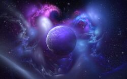 Purple-space-planet