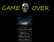 KH3 Game Over Menu