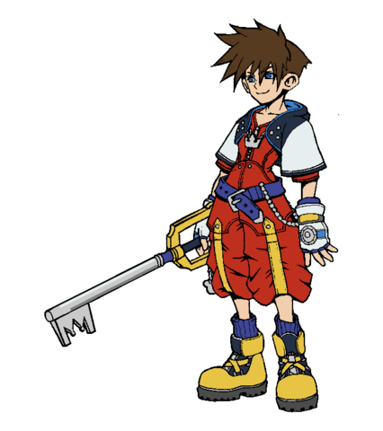File:Dissidia Sora 3P outfit.png