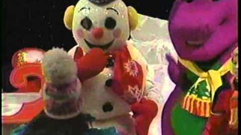 video barney the backyard gang waiting for santa 1990 custom