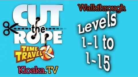 Cut The Rope Time Travel - The Middle Ages Walkthrough (3 Stars) Levels 1-1 to 1-15