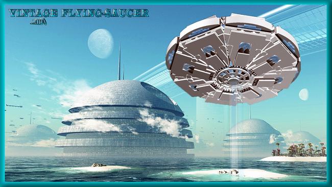 Vintage flying saucer 1
