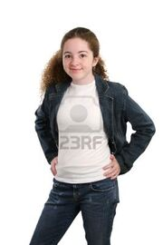 359730-a-casual-teen-girl-modeling-denim-and-a-white-t-shirt