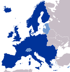 Map of the European Federation