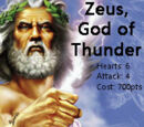Zeus, God of Thunder