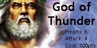 Zeus, God of Thunder