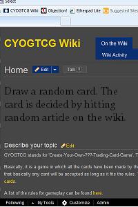CYOGTCG Wiki