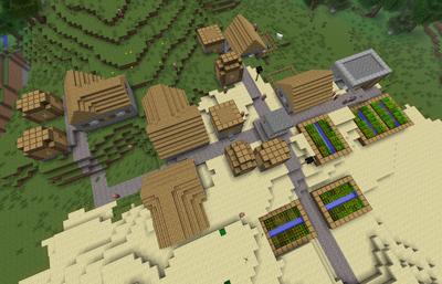 Overhead NPC Village