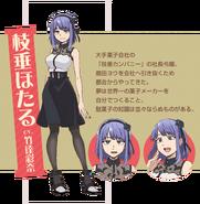 Dagashi Kashi S2 Character Design - Hotaru