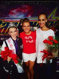 Kamryn Beck Miss Teen Starquest 2014 Atlantic City Nationals with Gianna Newborg and Kaeli Ware