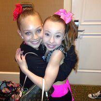 Sophia Lucia with Maddie Ziegler
