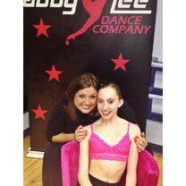 Chloe Smith with Abby