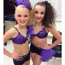 JoJo and Kendall 2015-01-11 via instagram dancemomofficialspoilers (watermarked)